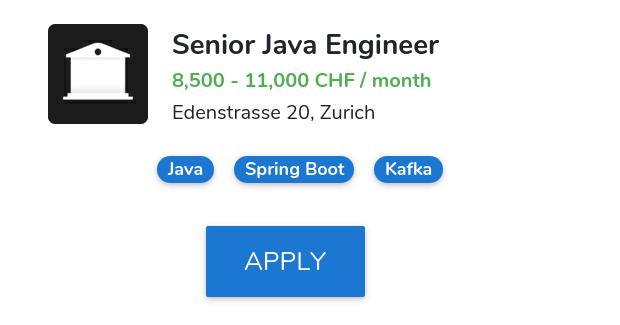 Senior Java Engineer @ Numbrs 🏆